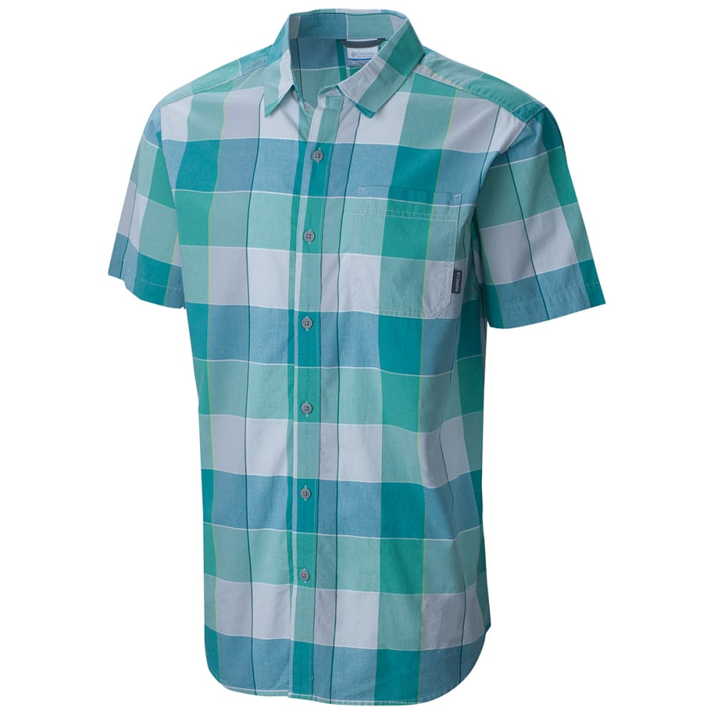 COLUMBIA Men's Thompson Hill II Yarn Dye Shirt - 318-GEMSTONE