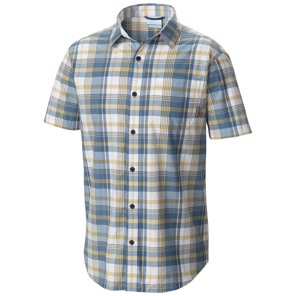 Columbia Men's Thompson Hill Ii Yarn Dye Shirt - Blue, M