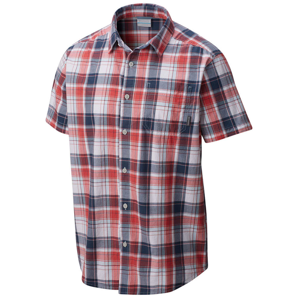 COLUMBIA Men's Thompson Hill II Yarn Dye Shirt - SUNSET RED PLD-684