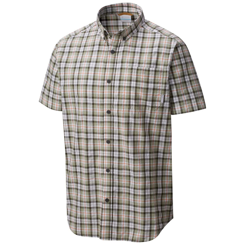 COLUMBIA Men's Rapid Rivers Mirage Short-Sleeve Shirt - PEAT MOSS M PLD-213
