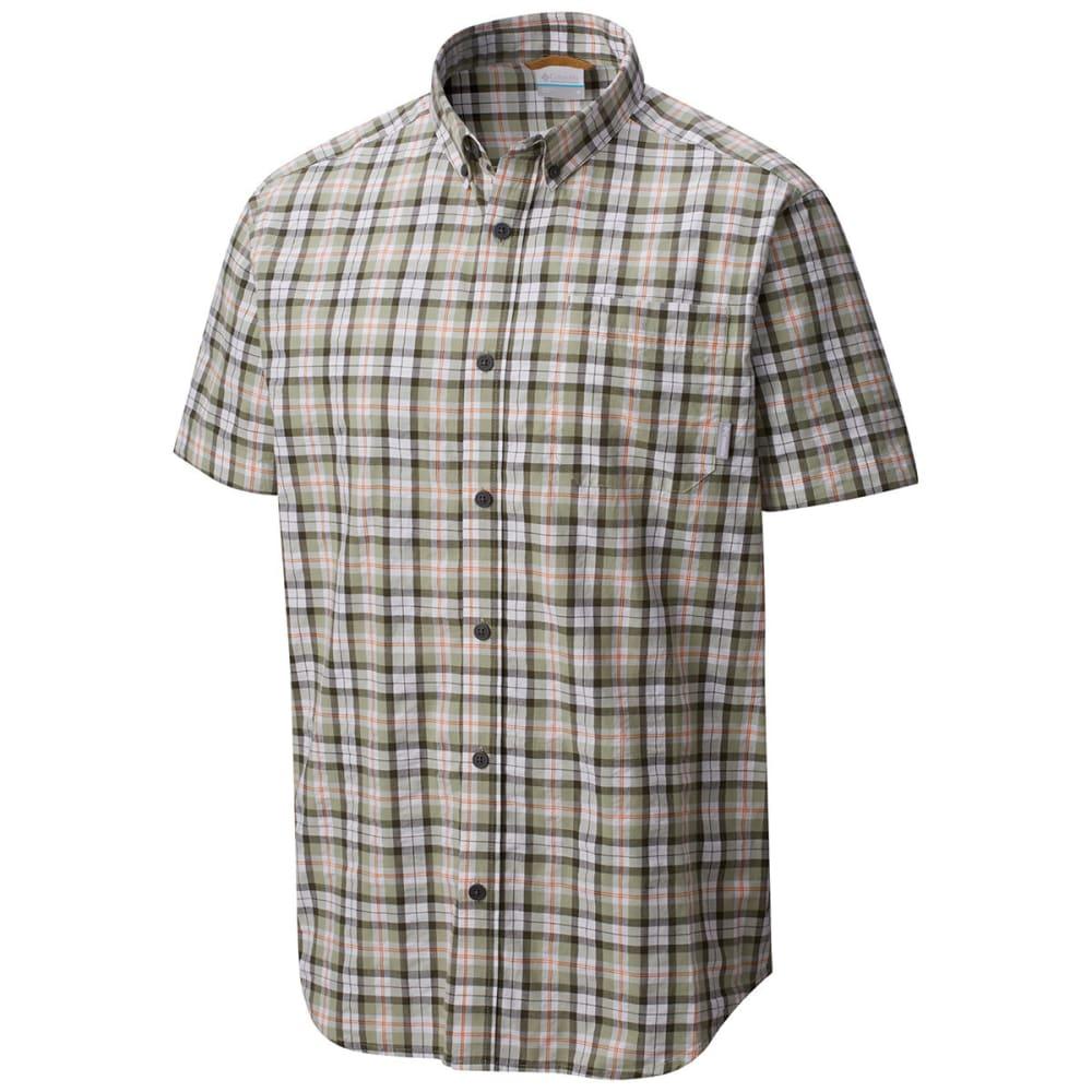 COLUMBIA Men's Rapid Rivers Mirage Short-Sleeve Shirt - PEAT MOSS M PLD-213