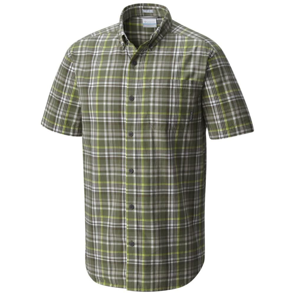 COLUMBIA Men's Rapid Rivers Mirage Short-Sleeve Shirt - MOSSTONE PLD-303
