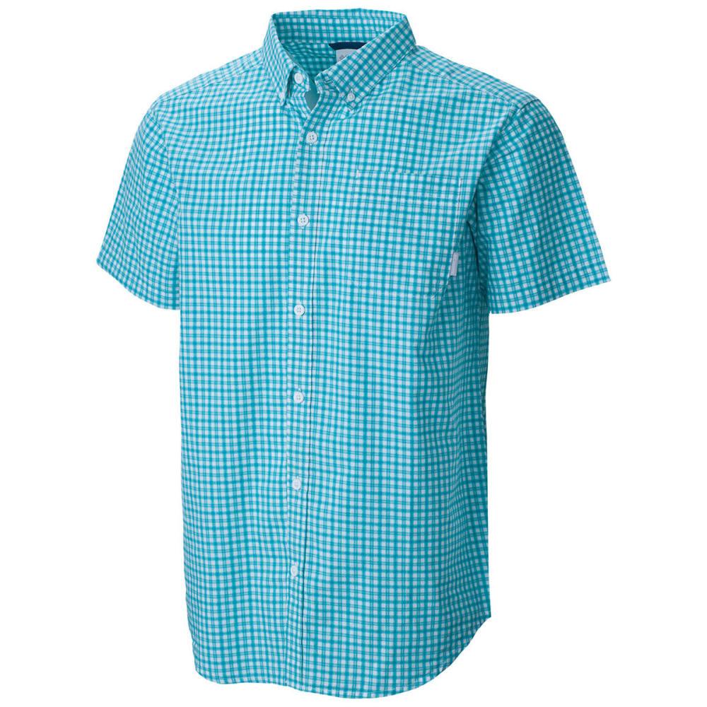 COLUMBIA Men's Rapid Rivers Mirage Short-Sleeve Shirt - TEAL SM PLD-962