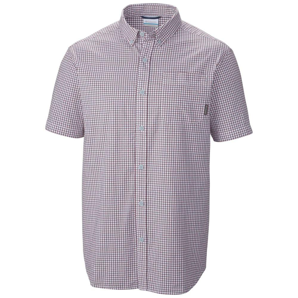 COLUMBIA Men's Rapid Rivers Mirage Short-Sleeve Shirt - BLUE HERON