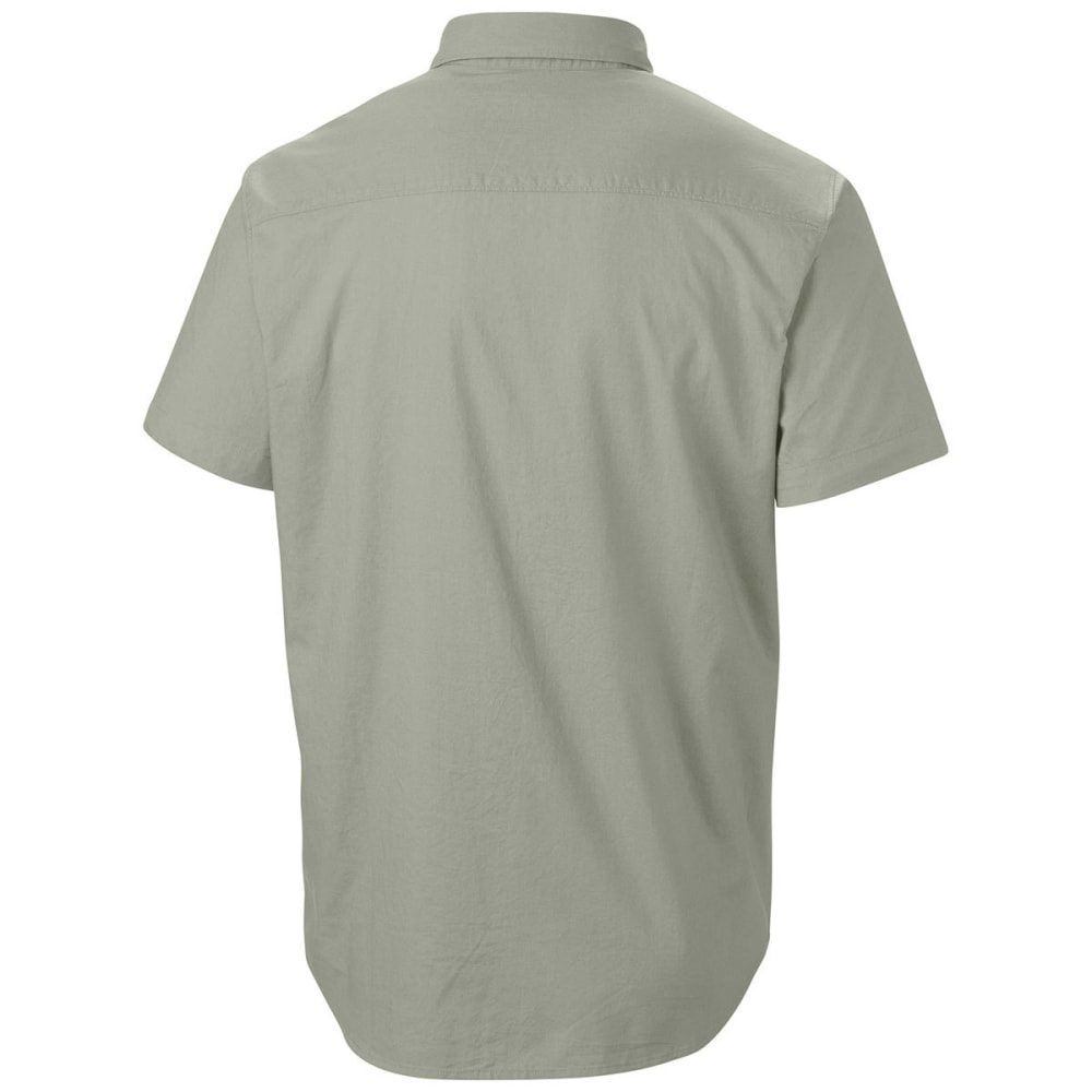 COLUMBIA Men's Thompson Hill Solid Short Sleeve Woven Shirt - SAFARI