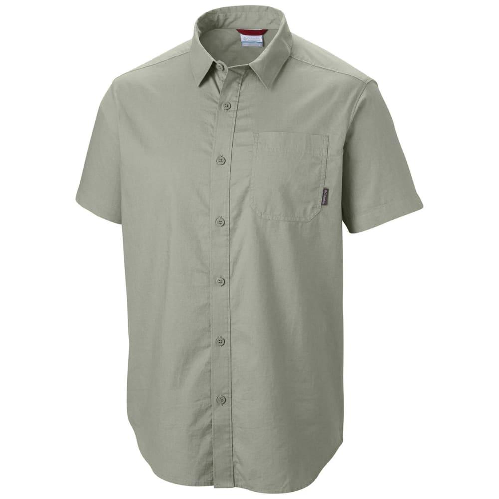 COLUMBIA Men's Thompson Hill Solid Short Sleeve Woven Shirt - SAFARI