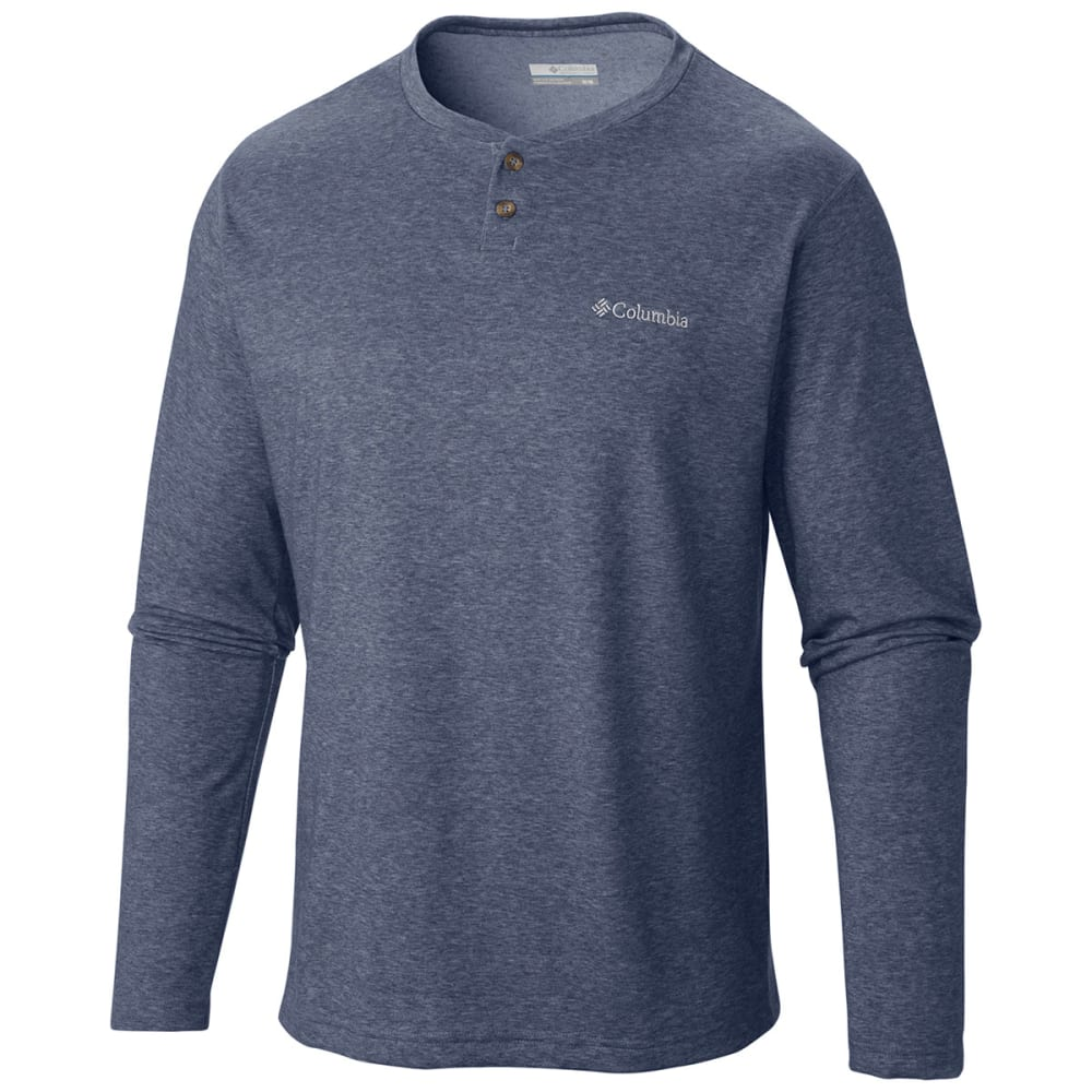 Columbia Men's Thistletown Park Henley Shirt - Purple, M