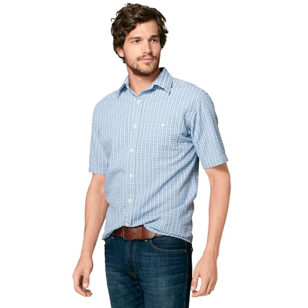 GH BASS Men's Rock River Texture Woven Shirt - VINTAGE INDIGO