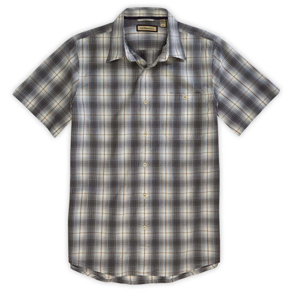 G.H. BASS & CO. Men's Corded Poplin Tandori Button-Down Shirt - NEUTRAL GREY
