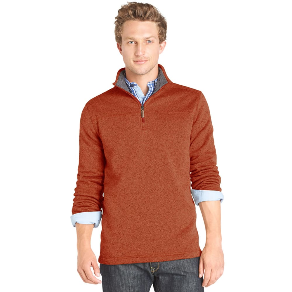 G.H. BASS & CO. Men's 1/4 Zip Fleece Top - POTTERS CLAY