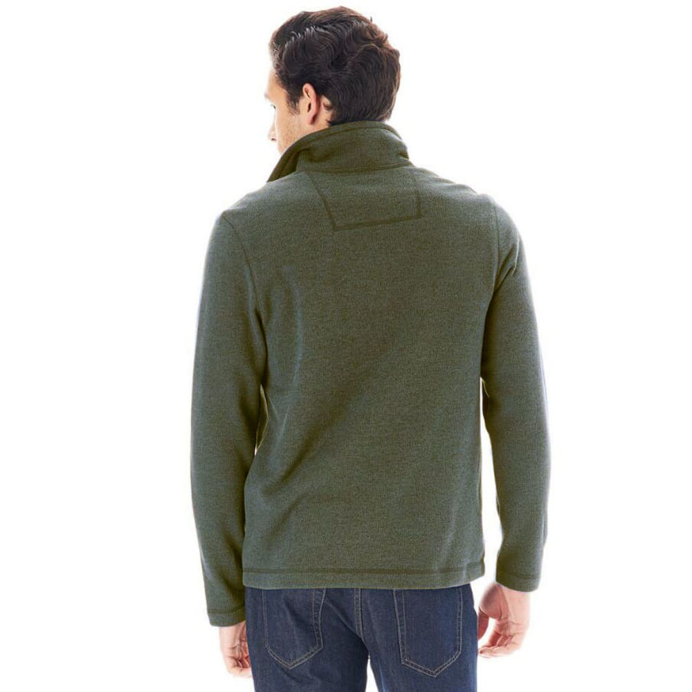 G.H. BASS & CO. Men's ¼ Zip Sweater Fleece - OLV NITE