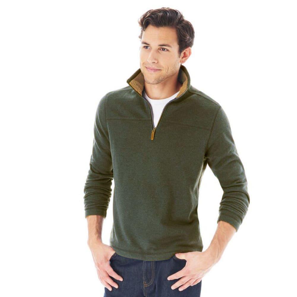 G.H. BASS & CO. Men's ¼ Zip Sweater Fleece - OLV NITE
