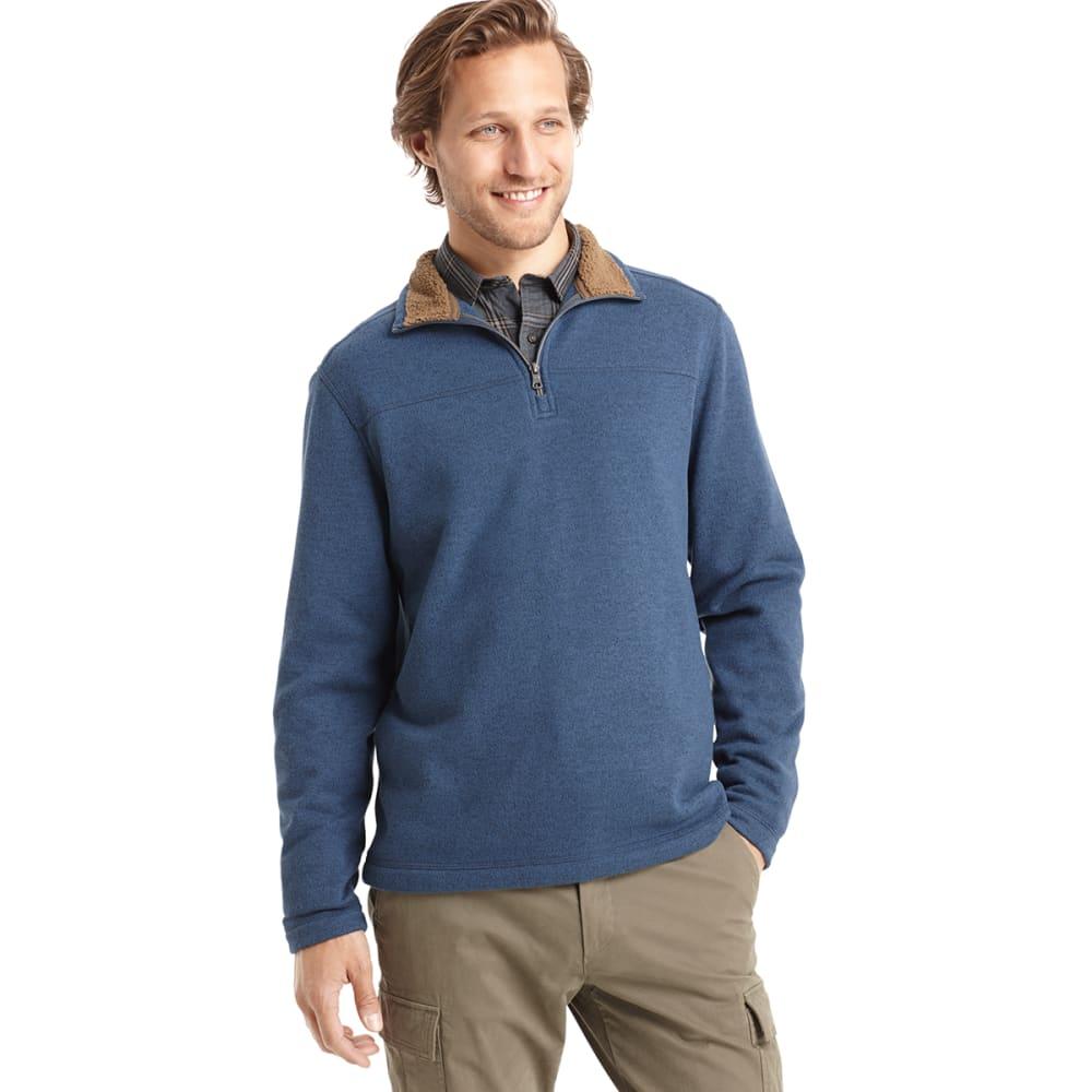 ARROW SPORTSWEAR Men's Sherpa Fleece Mockneck Sweater - DARK DENIM HEATHER