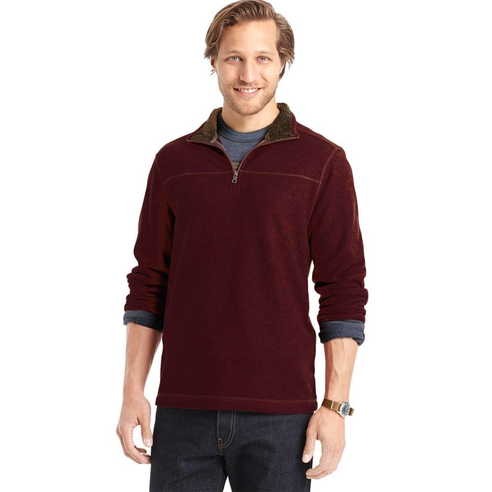 ARROW SPORTSWEAR Men's Sherpa Fleece Mockneck Sweater - CHOCOLATE TRUFFLE HE