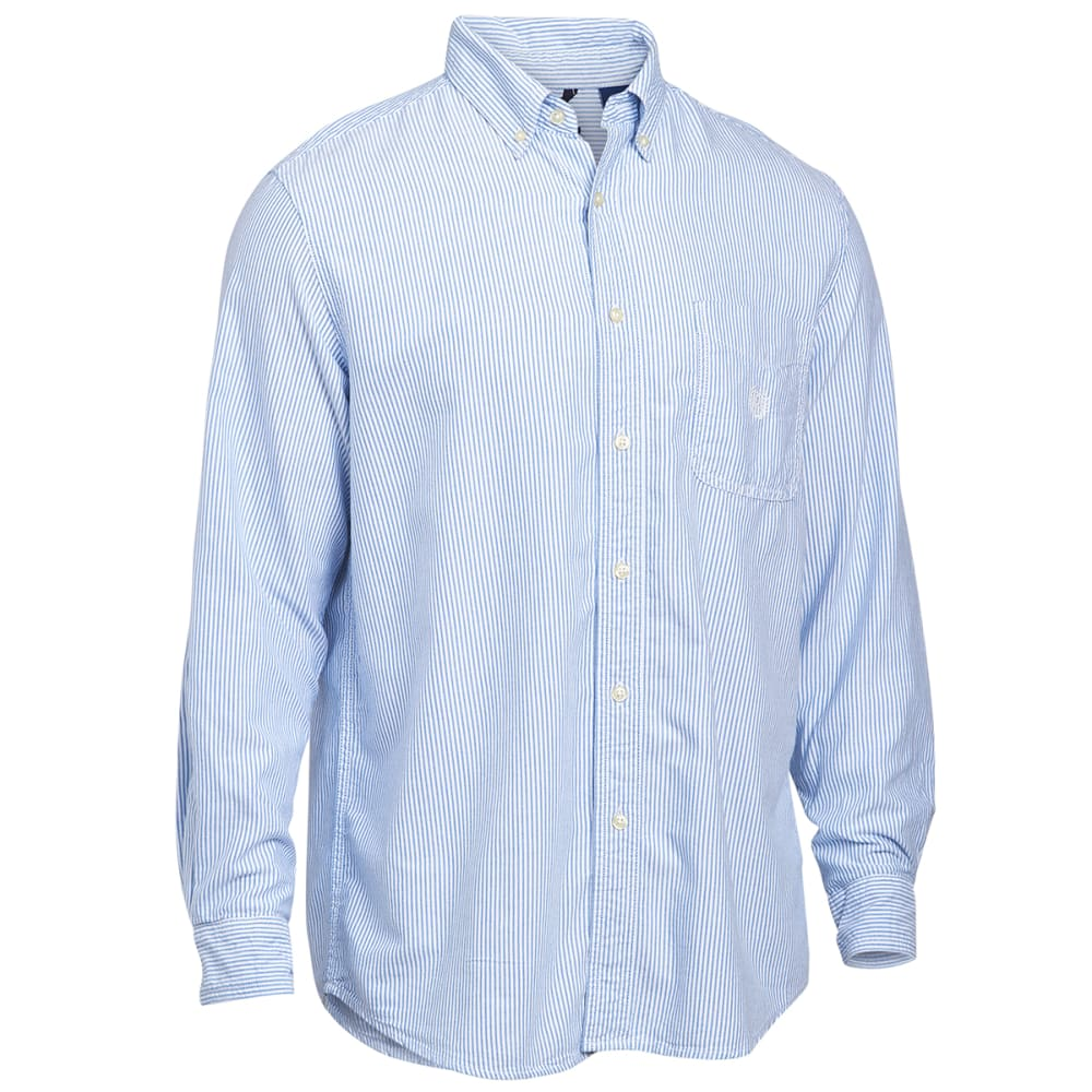 CHAPS Men's Bengal Oxford Long Sleeve Woven Shirt - 750501362001-ROY