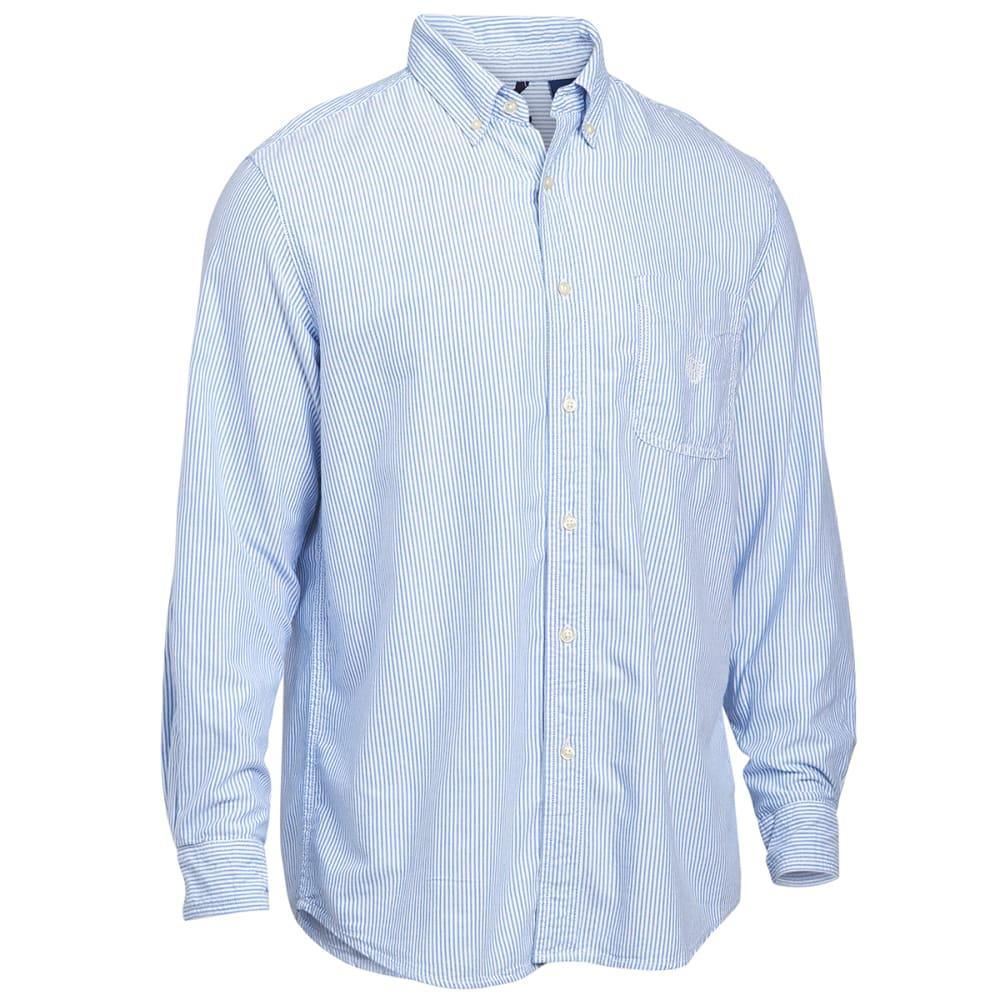 CHAPS Men's Bengal Oxford Long Sleeve Woven Shirt - 750501362001-ROY