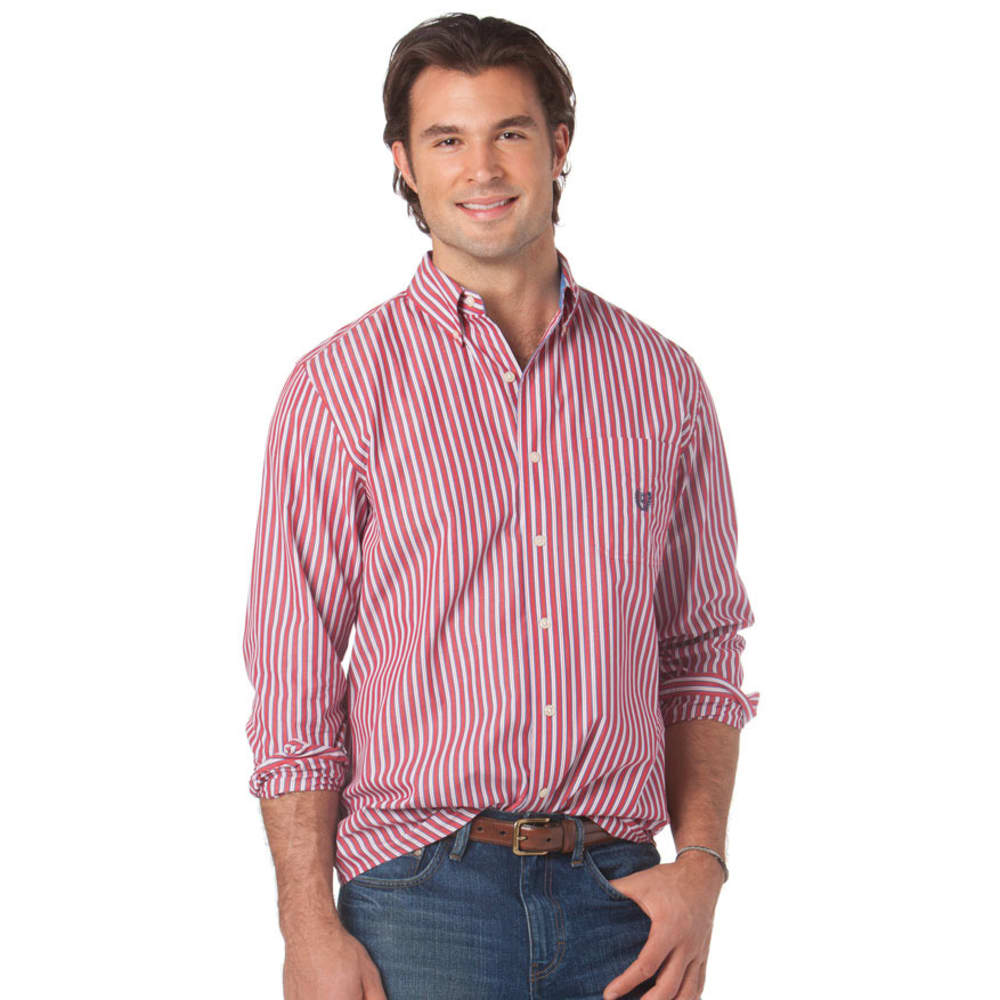 CHAPS Men's Sherborne Stripe Shirt - RED