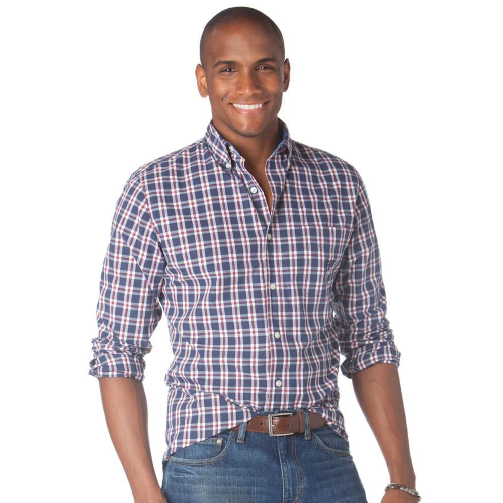CHAPS Men's Oakwood Check Woven Shirt - INDIGO LAKE