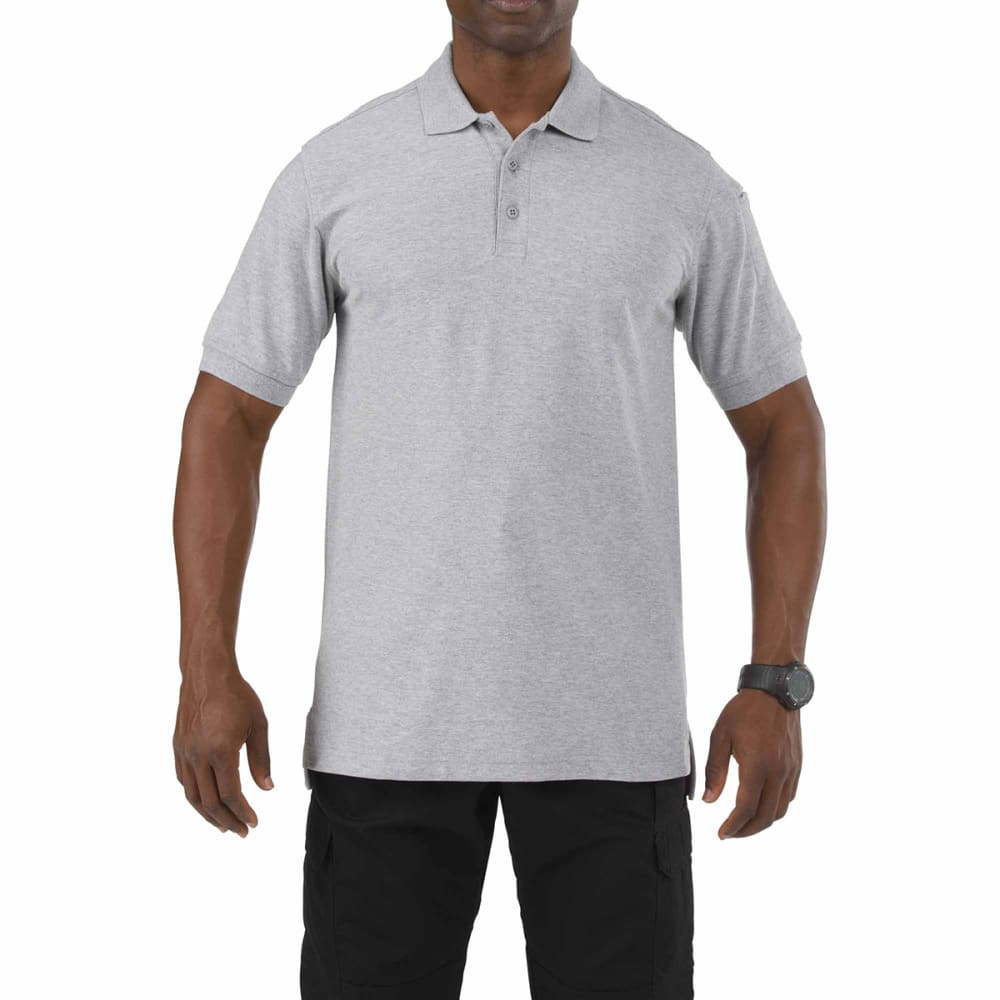 5.11 INC Men's Utility Polo - ASPHALT HEATHER