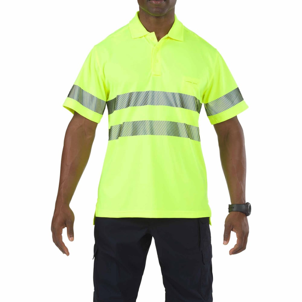 5.11 Inc Men's High Visibility Polo - Green, L