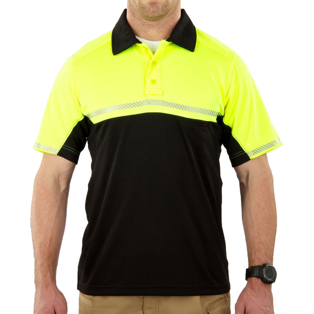 5.11 INC Men's Bike Patrol Polo - COMBAT GREEN/BLACK