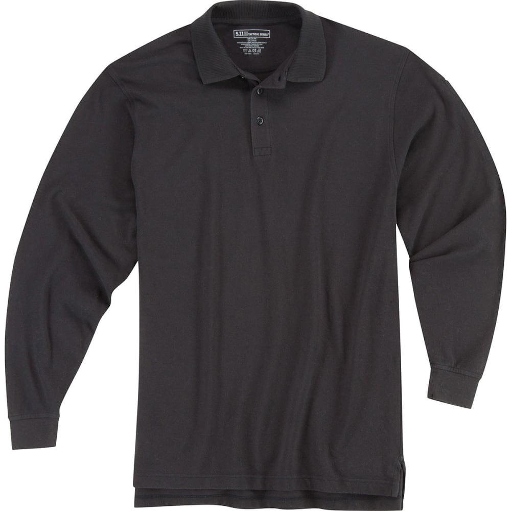 5.11 Long-Sleeve Utility Polo - Black, M