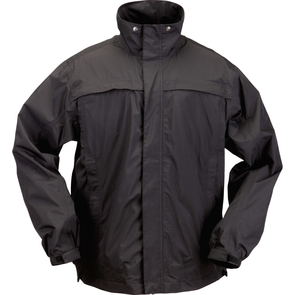 5.11 Men's Tac Dry Rain Shell - Black, M