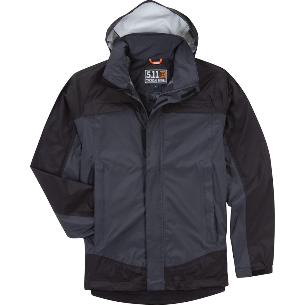 5.11 Men's Tac Dry Rain Shell - CHARCOAL