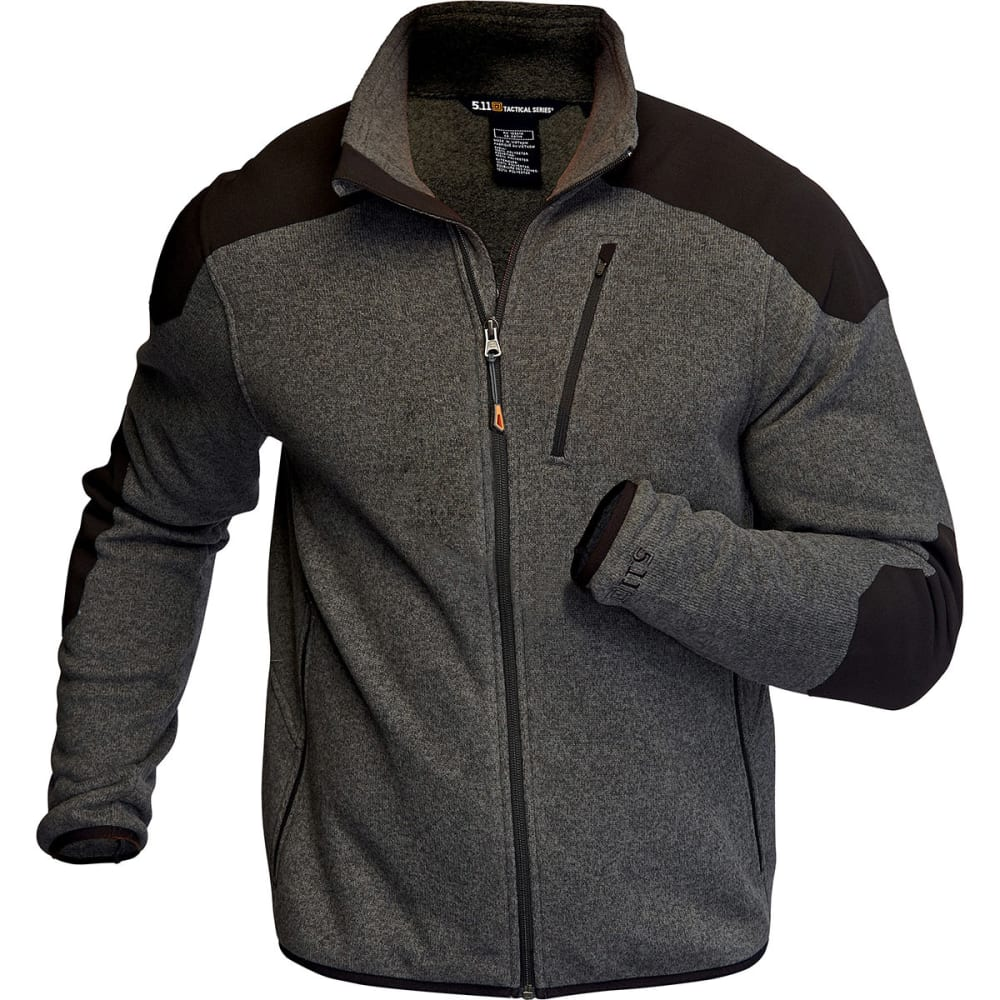 5.11 Men's Tactical Full-Zip Sweater - GUNPOWDER