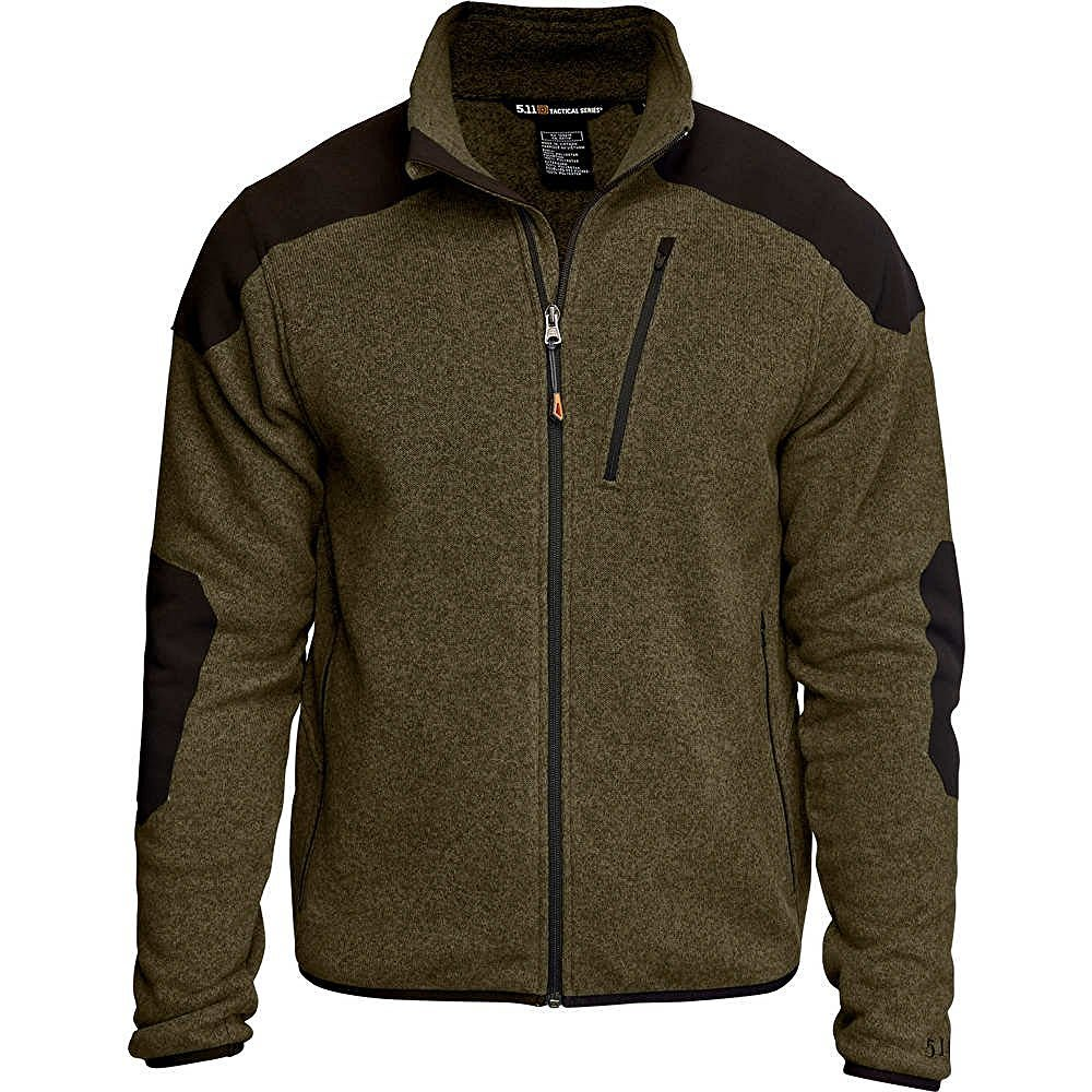 5.11 Men's Tactical Full-Zip Sweater - FIELD GREEN