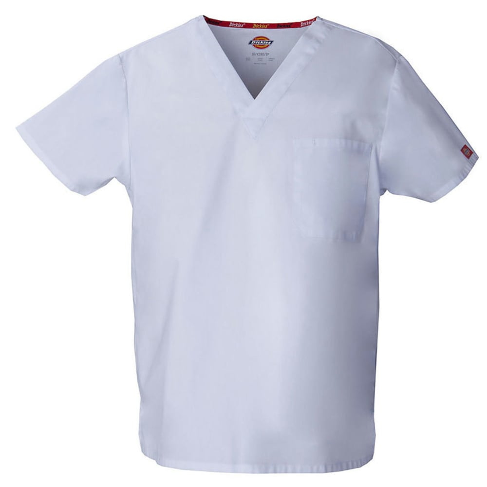 DICKIES EDS V-Neck Scrub Top - WHITE