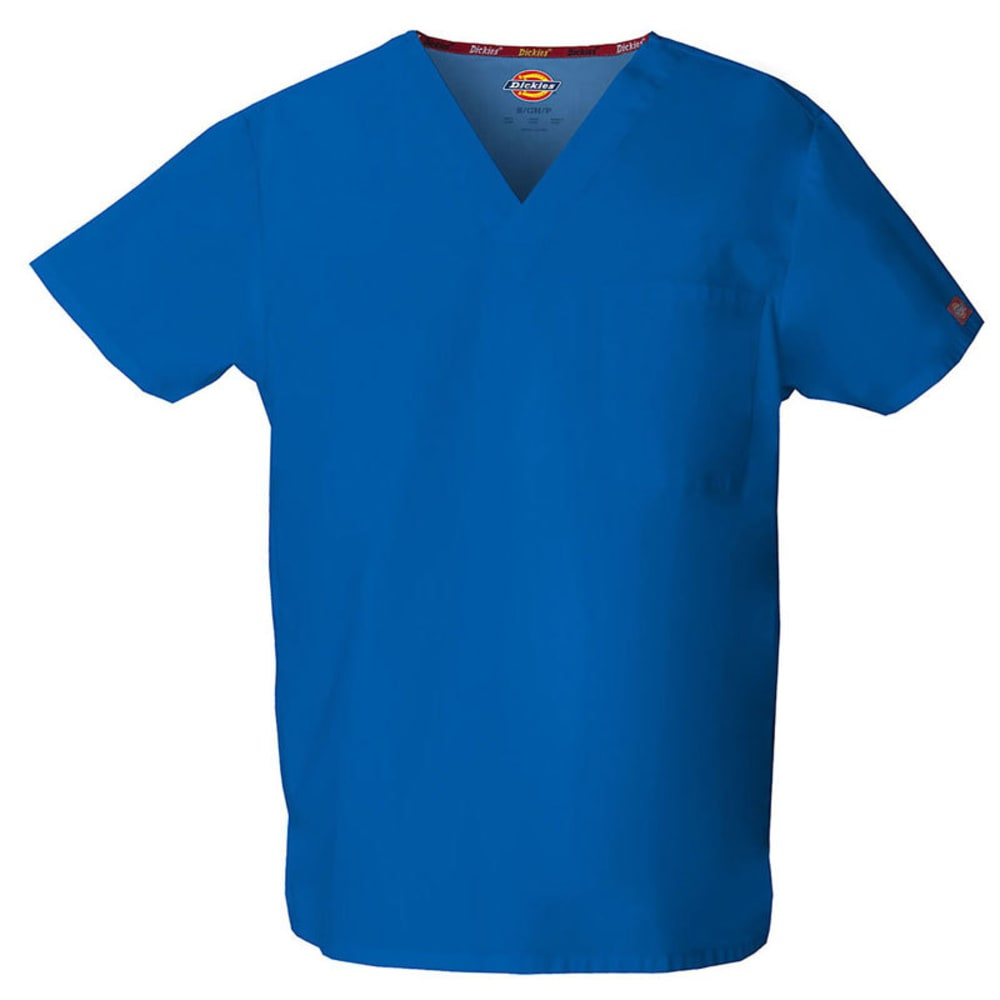 DICKIES EDS V-Neck Scrub Top - ROYAL BLUE