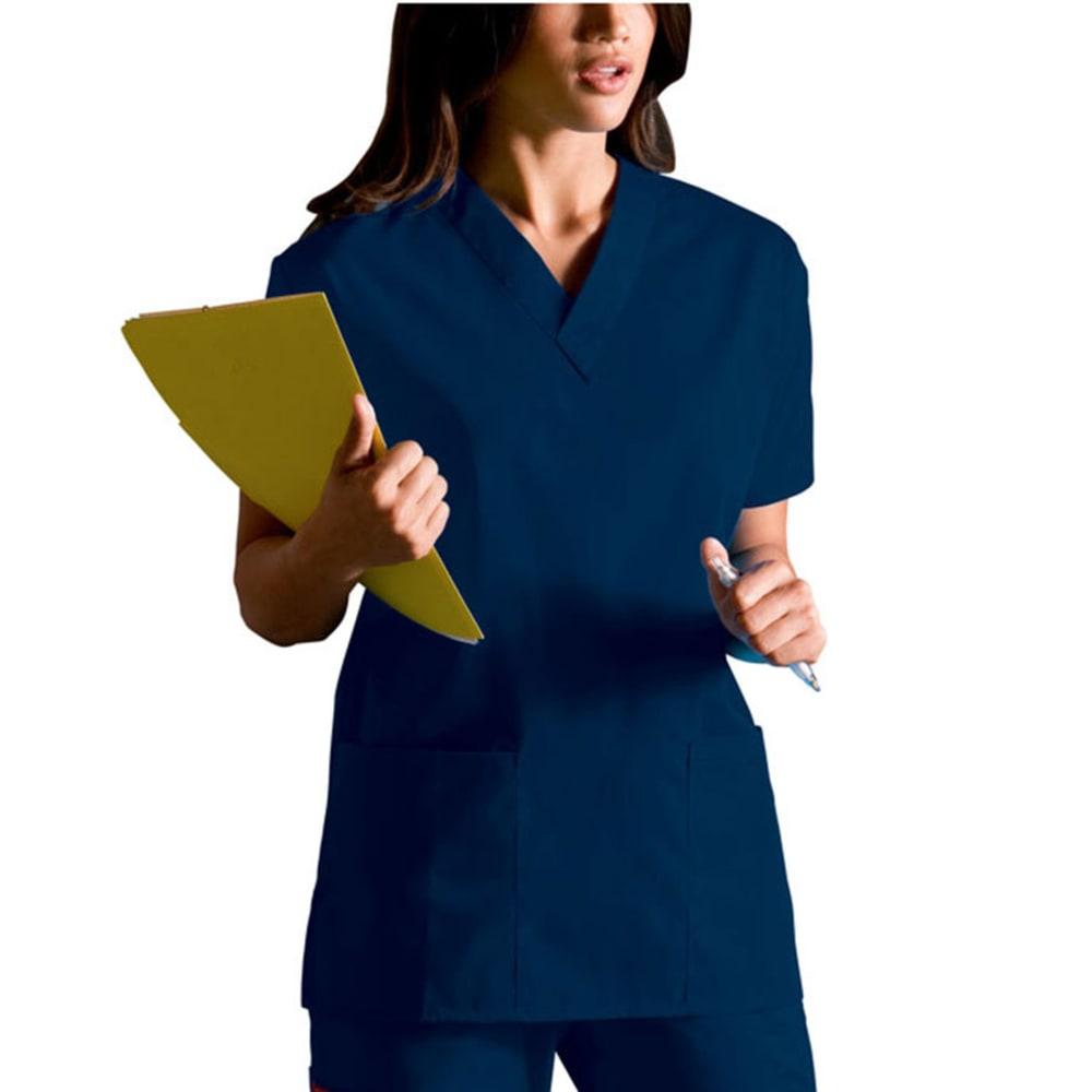 DICKIES Women's Everyday Scrubs V-Neck Top - NAVY