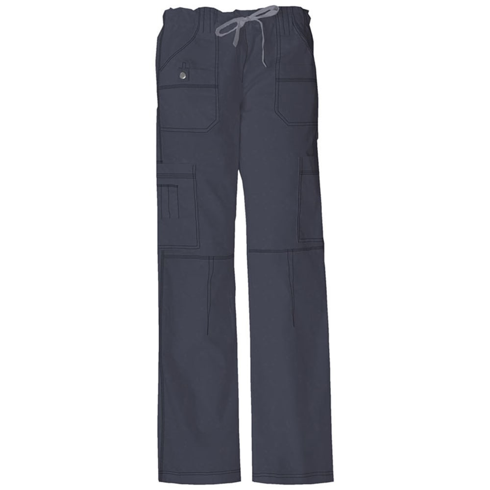 DICKIES Women's Junior Fit 9 Pocket Youtility Pants - PEWTER