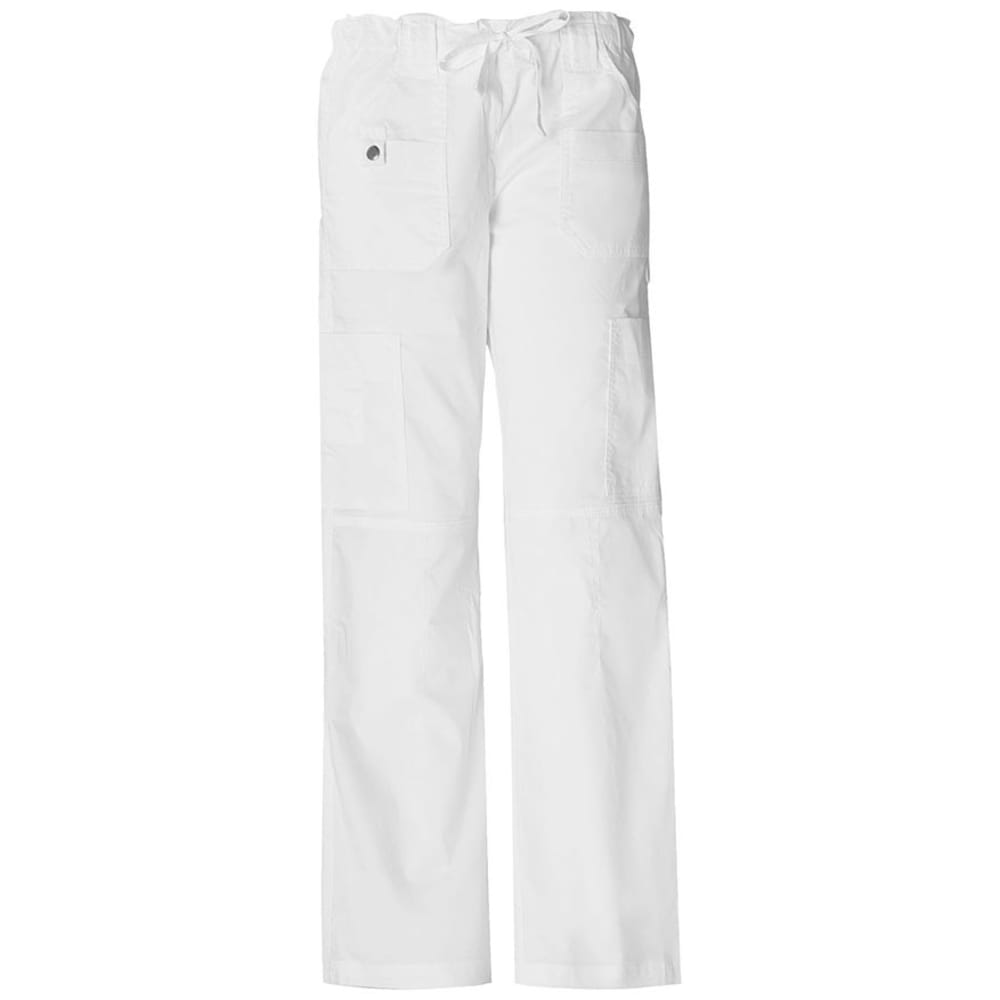 DICKIES Women's Junior Fit 9 Pocket Youtility Pants - WHITE