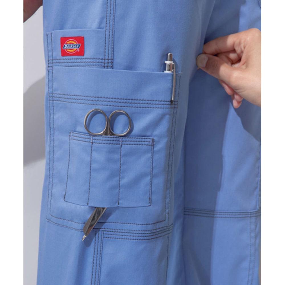 DICKIES Women's Junior Fit 9 Pocket Youtility Pants - CEIL BLUE