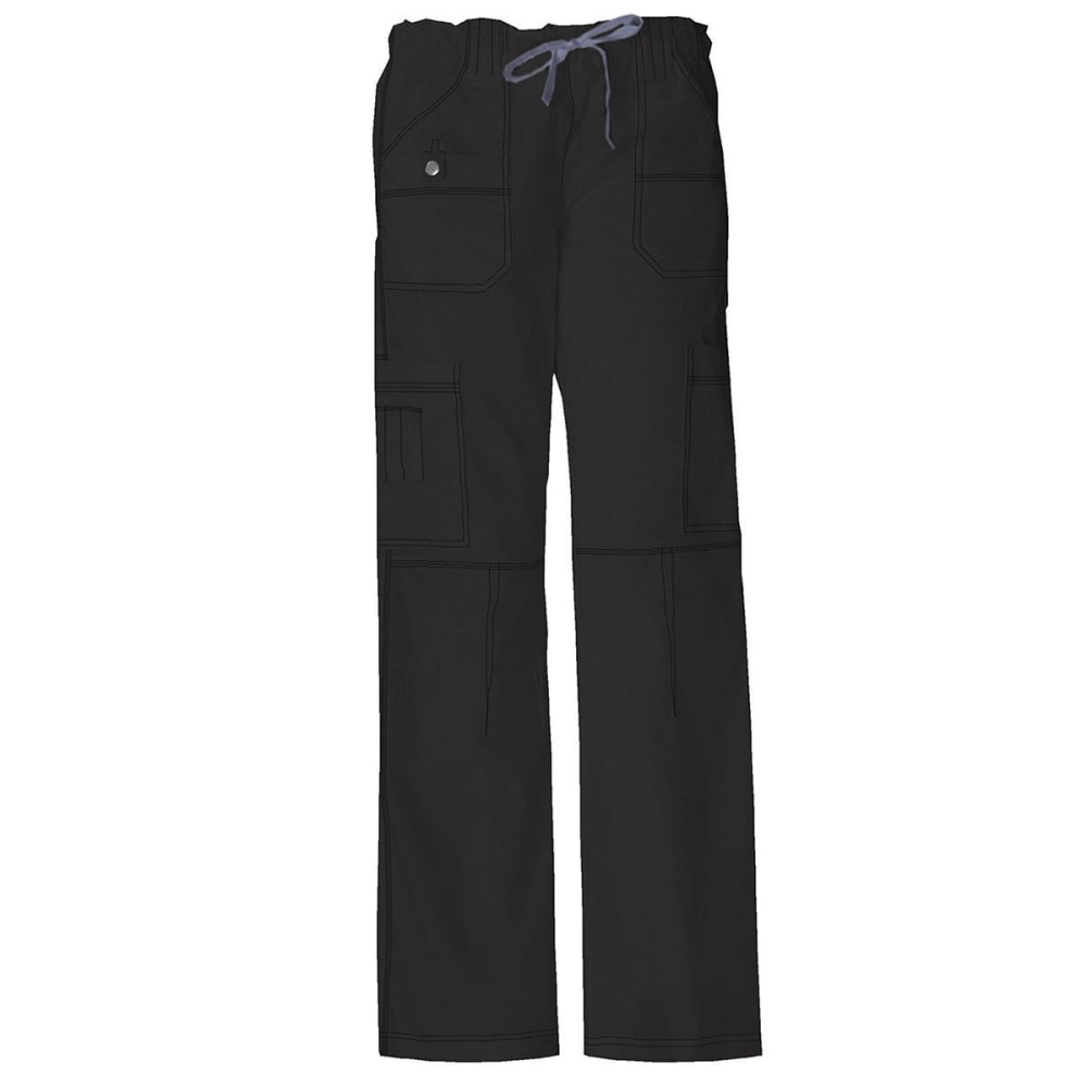 DICKIES Women's Junior Fit 9 Pocket Youtility Pants, Extended sizes - BLACK