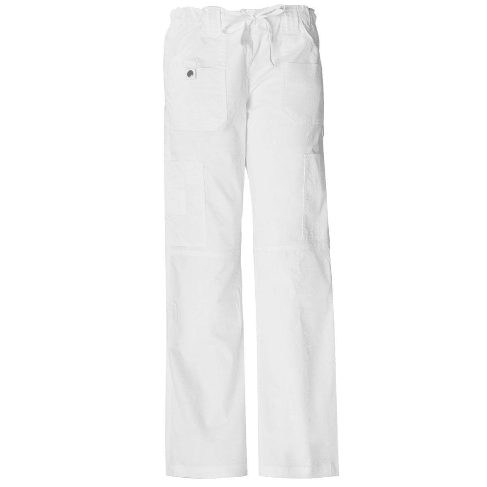 DICKIES Women's Junior Fit 9 Pocket Youtility Pants, Extended sizes - WHITE