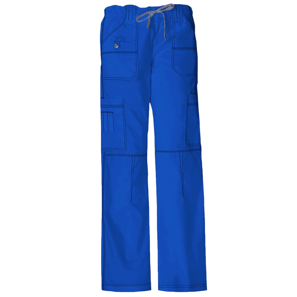 DICKIES Women's Junior Fit 9 Pocket Youtility Pants, Extended sizes - ROYAL BLUE