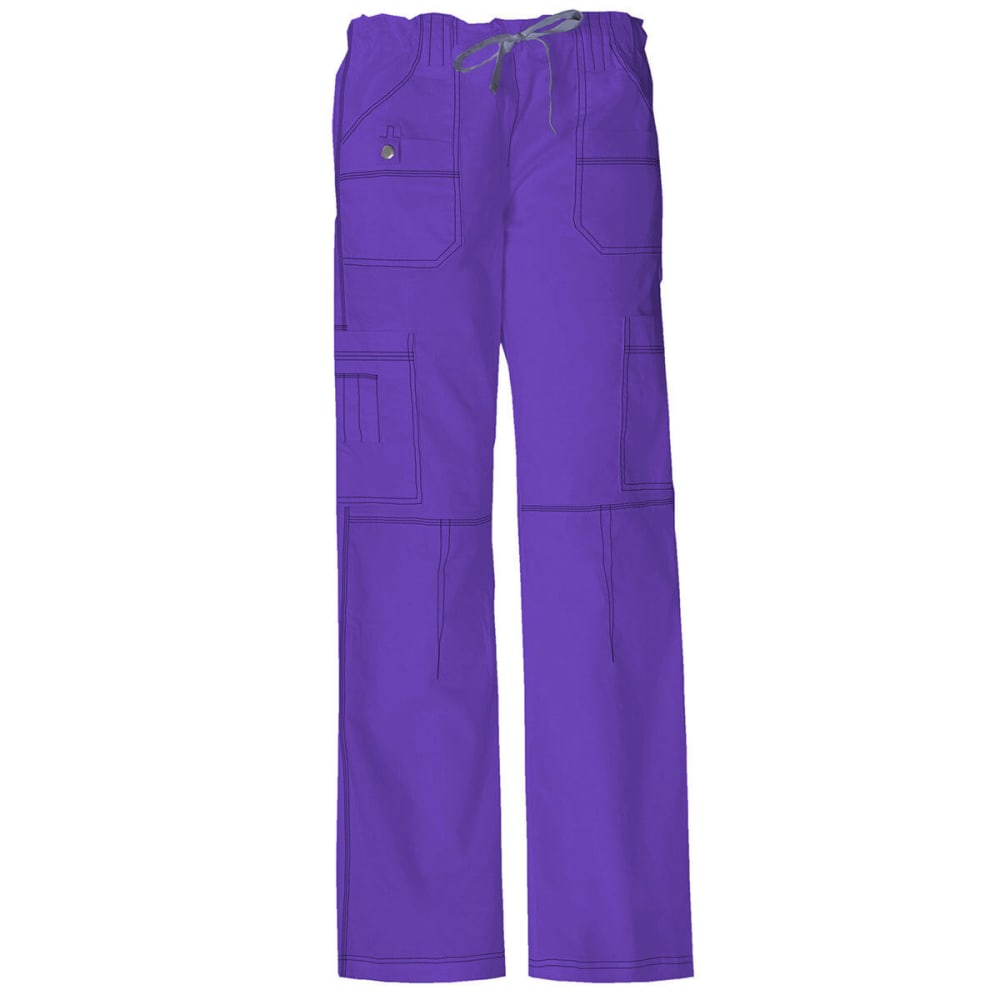 DICKIES Women's Junior Fit 9 Pocket Youtility Pants, Extended sizes - GRAPE