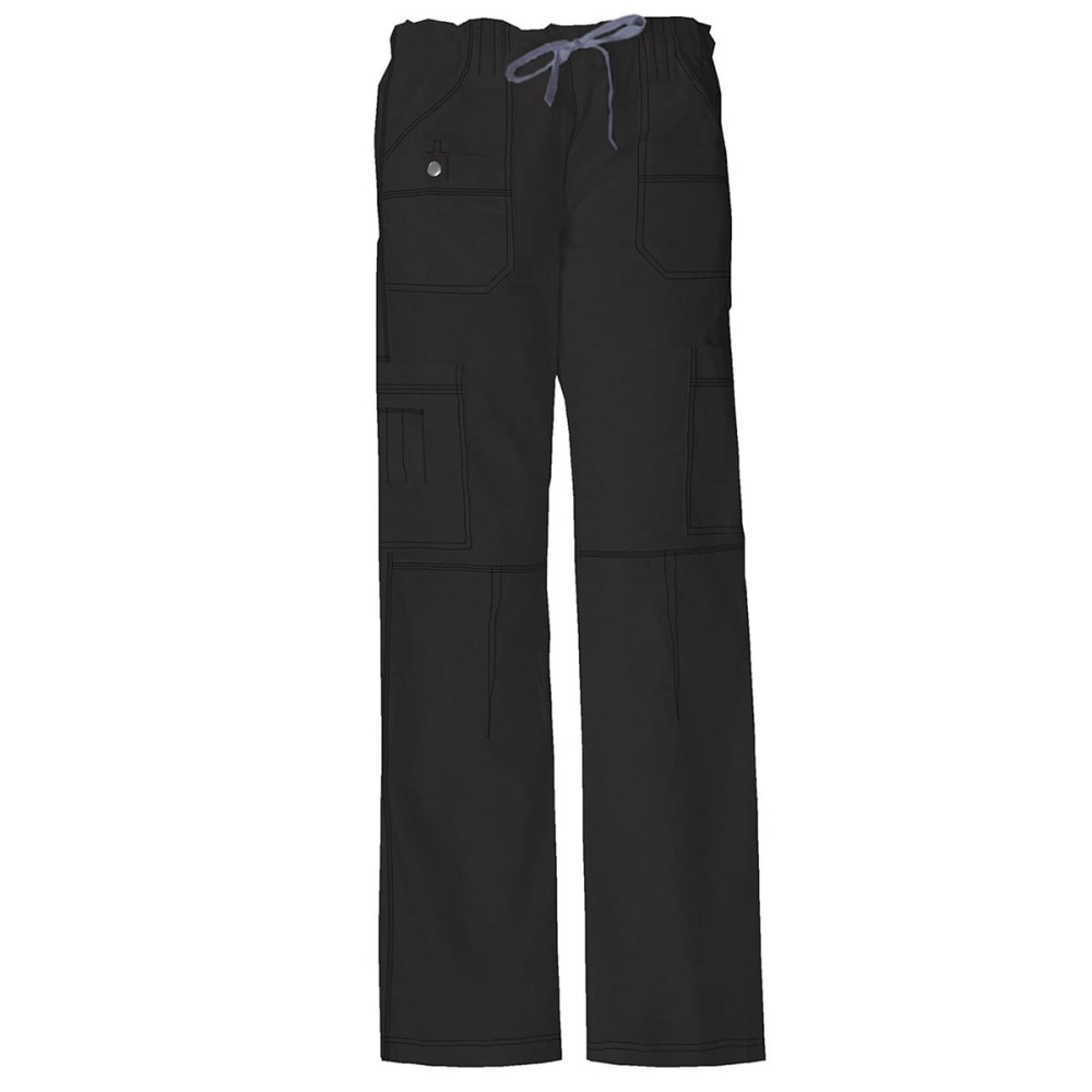 DICKIES Women's Petite Junior Fit 9 Pocket Youtility Pants - BLACK