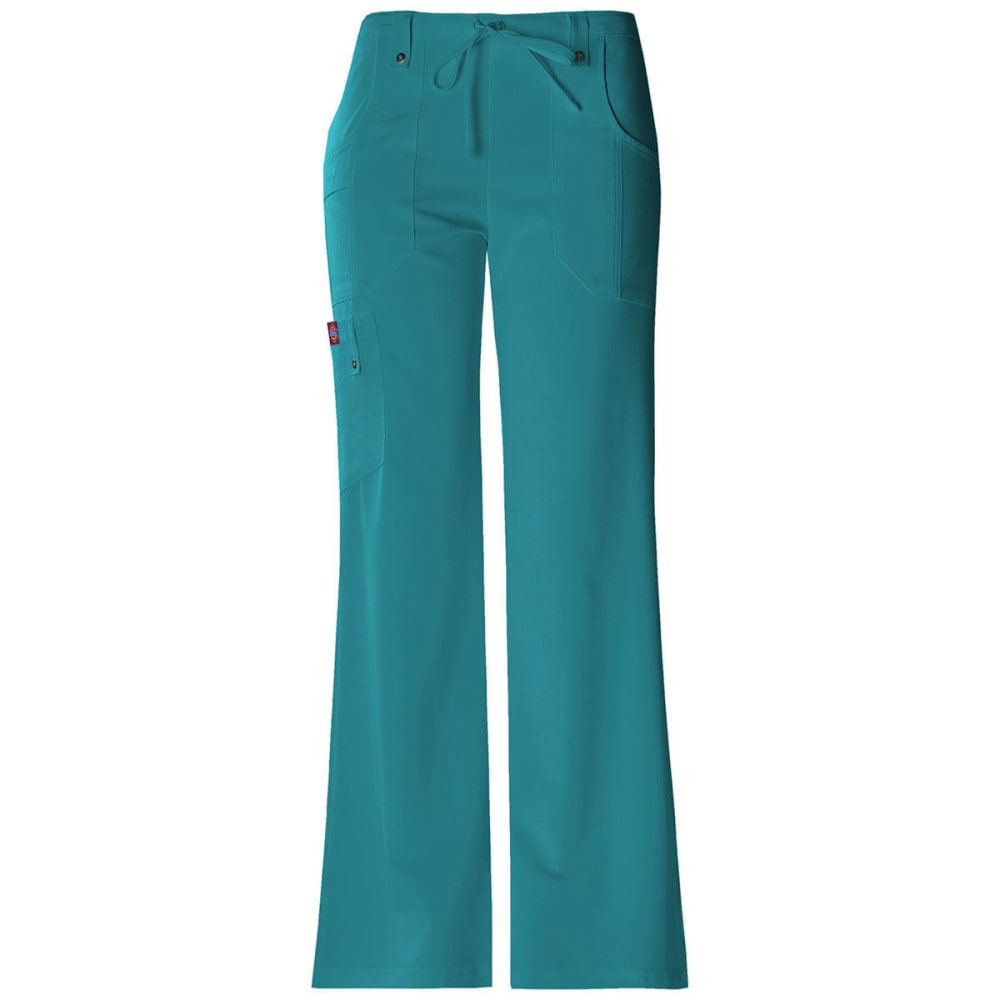 Dickies Xtreme Stretch Drawstring Flare Leg Pants - Green, XS