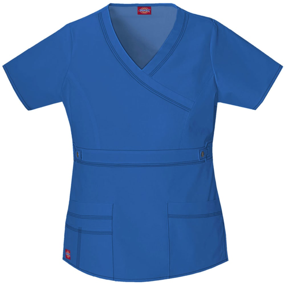DICKIES Junior's Youtility Mock Wrap Top - ROYAL BLUE