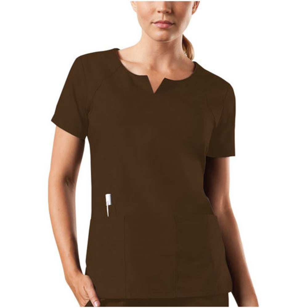 CHEROKEE Women's Round Neck Top - CHOCOLATE