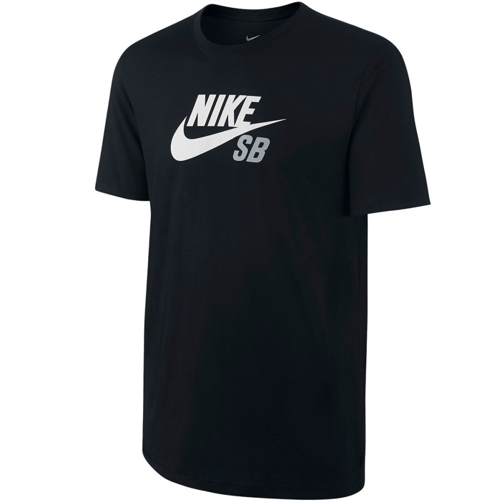 NIKE Action Boys' Logo Tee - BLACK/WHITE