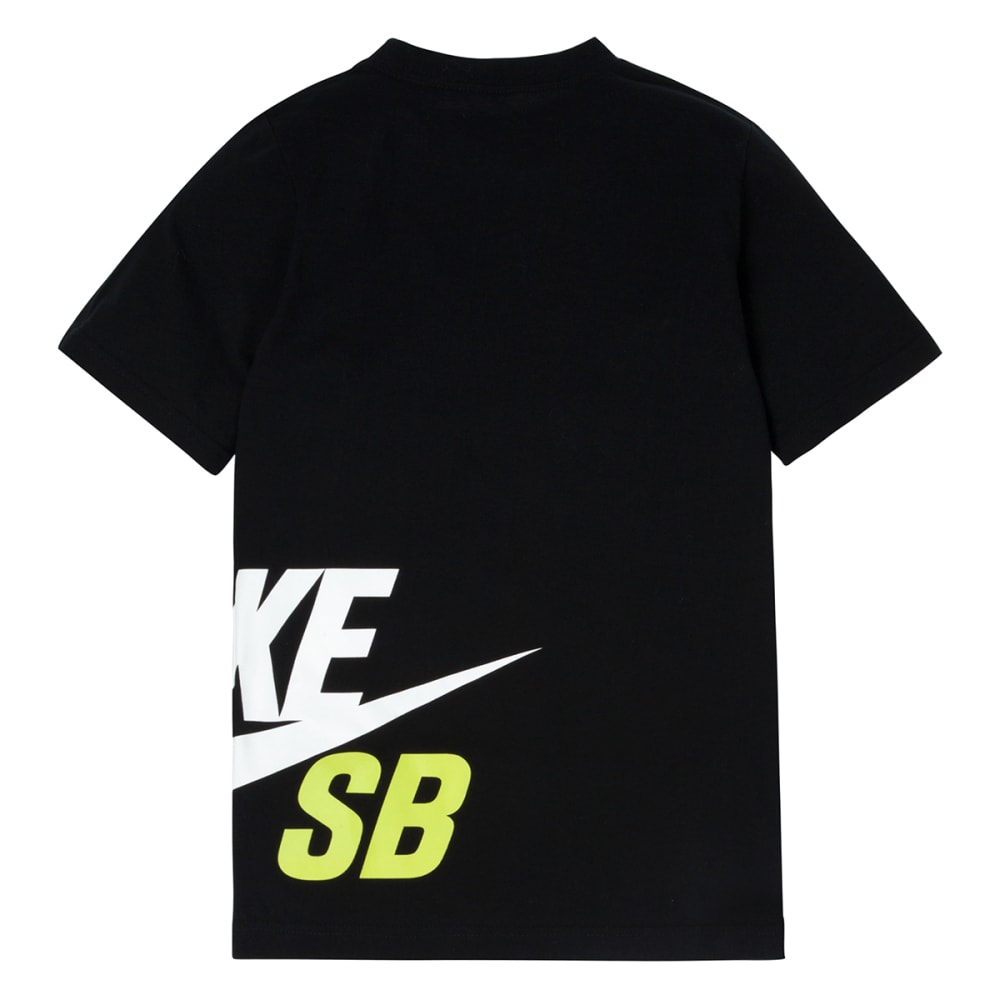 NIKE SB Boys' Wrap Around Logo Tee - BLACK