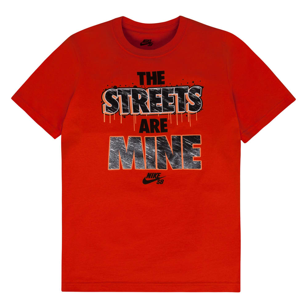 NIKE SB Boys' The Streets Are Mine Tee - UNIVERSITY ORANGE