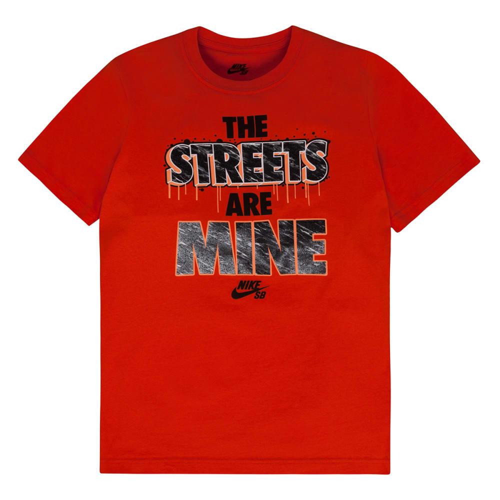 NIKE SB Boys' The Streets Are Mine Tee - UNIVERSITY ORANGE