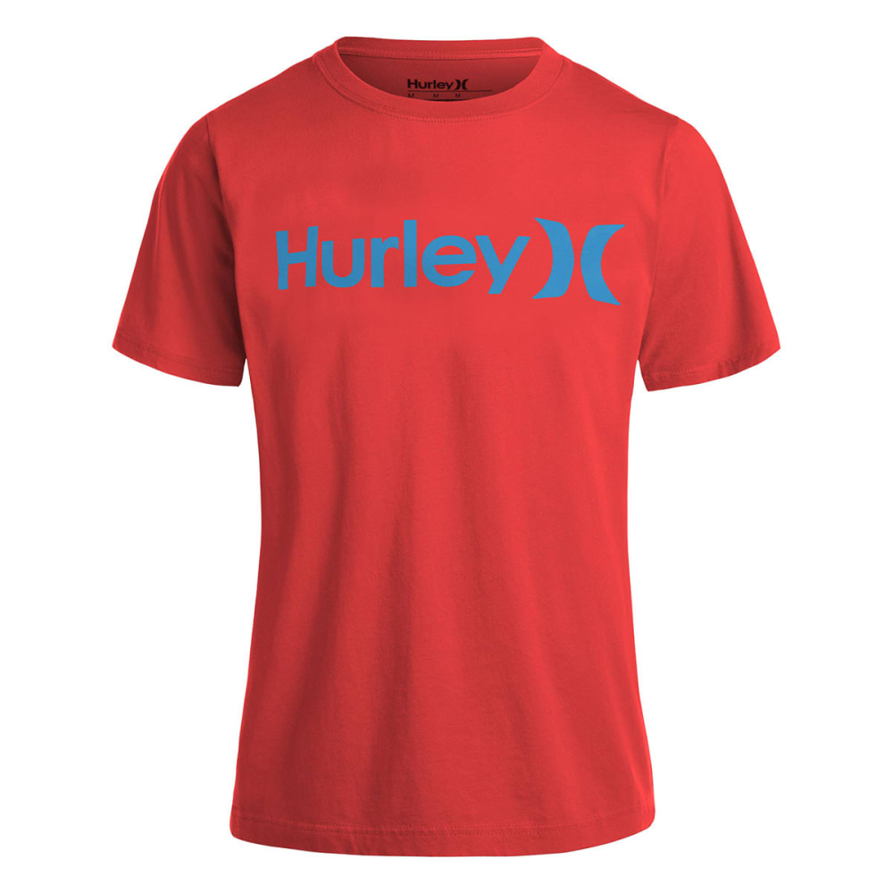 HURLEY Boys' One and Only Tee - BRIGHT CRIMSON