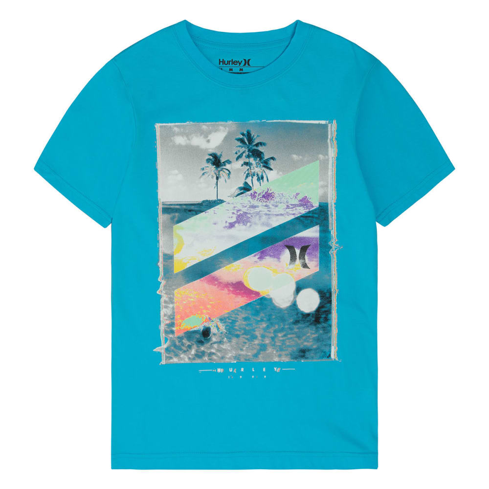 HURLEY Boys' Skull Slash Tee - BETA BLUE-B2B
